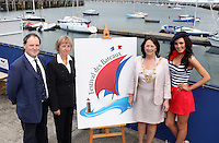****NO FEE PIC****.(L to r).Peter Ryan from the National Yacht Club.Her Excellency Emmanuelle D'Achon French Ambassador to Ireland.An Cathaoirleach of DLR, Cllr. Lettie McCarthy.French Mademoiselle Sinead Noonan .at the National Yacht Club Dun Laoghaire to launch Festival Des Bateaux which takes place between August 11th and 14th 2011 .Dun Laoghaire will be the only international stop on the world famous French Solitaire du Figaro yacht race.  To celebrate the stopover of this iconic 3,390 km race, Dun Laoghaire Rathdown County Council, the Dun Laoghaire Harbour Company and the National Yacht Club have joined forces to create Festival des Bateaux.  The harbour will be a magnificent tapestry of colour as the boats arrive for this international event.  Dun Laoghaire will be resplendent with fireworks, music and the sights, sounds, foods, and 'joie de vivre' of France..Photo: Gareth Chaney Collins