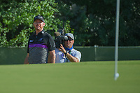 Jimmy Walker (USA) hits up tight from the trap on 13 during round 2 of the AT&amp;T Byron Nelson, Trinity Forest Golf Club, at Dallas, Texas, USA. 5/18/2018.<br /> Picture: Golffile | Ken Murray<br /> <br /> <br /> All photo usage must carry mandatory copyright credit (&copy; Golffile | Ken Murray)
