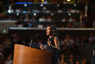 September 6, 2012  (Charlotte, North Carolina) Actress Kerry Washington, known for her roles in the movies Ray and The Last King of Scotland, speaks at the 2012 Democratic National Convention in Charlotte, NC.   (Photo by Don Baxter/Media Images International)