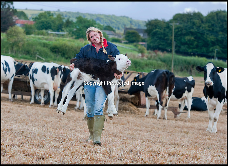 BNPS.co.uk (01202 558833)<br /> Pic: PhilYeomans/BNPS<br /> <br /> Harriet (25) Is in charge of the day to day running of the family farm.<br /> <br /> Far from the Madding Crowd - Land Girls...Plucky mum and her daughters running the family farm in the heart of Dorset.<br /> <br /> Widow Carol Besent is getting a bumper harvest in this year with the help of her three daughters Georgina, Harriet and Katy.<br /> <br /> Carol's husband died four years ago and rather than give up the family farm Carol and her daughters have taken the unusual step of running the 700 acre mixed arable and dairy farm themselves.