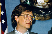 Microsoft CEO Bill Gates appears at the National Press Club in Washington, DC on November 28, 1995.<br /> Credit: Ron Sachs / CNP