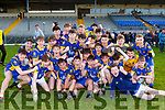 The Milltown team celebrate after defeating St Brendans College in the Dunloe Cup final in Fitzgerald Stadium on Wednesday