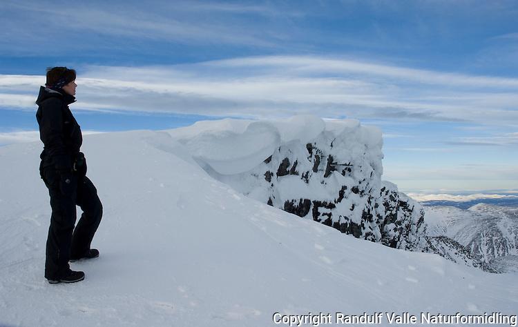 Dame på toppen av Storronden ---- Woman on the summit of Storronden