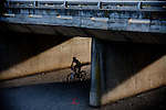 Riders make their way under the Wolsley bridge during stage four of the 2010 Absa Cape Epic Mountain Bike stage race from Ceres to Worcester in the Western Cape, South Africa on the 24 March 2010.Photo by Karin Schermbrucker/SPORTZPICS