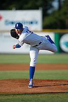 Burlington Royals starting pitcher Andre Davis (31) follows through on his delivery against the Princeton Rays at Burlington Athletic Stadium on June 24, 2016 in Burlington, North Carolina.  The Rays defeated the Royals 16-2.  (Brian Westerholt/Four Seam Images)