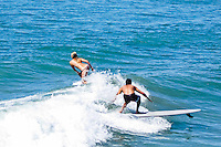 Orange County Surfers Sharing Waves