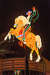 Historic neon signs, Fremont Street Neon Museum, Las Vegas, Nev...(horse and rider sign)