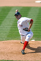 Pawtucket Red Sox' RHP BLAKE MAXWELL during a game vs. the Syracuse Chiefs at McCoy Stadium in Pawtucket, Rhode Island July 11, 2010.    Photo By Ken Babbitt/Four Seam Images