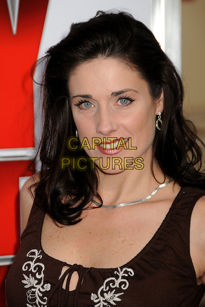 "DANIELLE PETTY .""The Spy Next Door"" Los Angeles Premiere held at The Grove,  Los Angeles, California, USA, .9th January 2010..portrait headshot brown vest top sleeveless .CAP/ADM/BP.©Byron Purvis/Admedia/Capital Pictures"