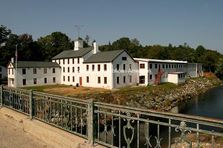 BARKHAMSTED, CT- 24 SEPTEMBER 2008 --092408JS14--The old Hitchcock chair factory along the banks of the Farmington River in the Riverton section of Barkhamsted. <br /> Jim Shannon / Republican-American