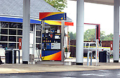 """Manassas, VA - October 10, 2002 --  Crime Scene at the Sunoco gas station in Manassas, VA  the morning after a Gaithersburg man was murdered while pumping gas at a Sunoco station.  It is still unclear if the man is another victim of the """"Beltway Sniper"""".  <br /> Credit: Ron Sachs / CNP<br /> (RESTRICTION: NO New York or New Jersey Newspapers or newspapers within a 75 mile radius of New York City)"""