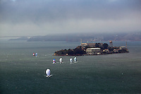 aerial photograph Rolex Big Boat Series San Francisco Bay, California