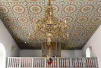 Orgel in der romanischen Peders Kirke 12.Jh. bei Pedersker auf der Insel Bornholm, D&auml;nemark, Europa<br /> Organ in Peders Kirke (12.c.) near Pedersker, Isle of Bornholm Denmark