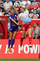 Bridgeview, IL - Saturday July 22, 2017: Steph Catley, Sofia Huerta during a regular season National Women's Soccer League (NWSL) match between the Chicago Red Stars and the Orlando Pride at Toyota Park. The Red Stars won 2-1.