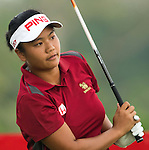 CHON BURI, THAILAND - FEBRUARY 17:  Numa Gulyanamitta of India tees off on the 11th hole during day two of the LPGA Thailand at Siam Country Club on February 17, 2012 in Chon Buri, Thailand.  Photo by Victor Fraile / The Power of Sport Images