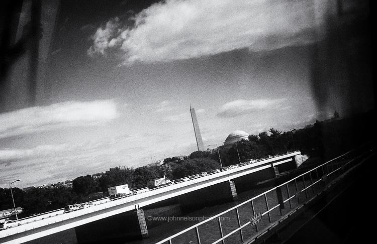 Washington Monument, Washington, DC <br />  <br /> Washington Monument seen from the Yellow line metro.