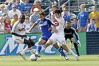 Josh Wolff-Kansas City Wizards / Bakary Soumare- Gonzalo Segares-Chicago Fire. Kansas City Wizards 1 Chicago Fire 1, Sunday October 5 2008, in Kansas City, Kansas. Photo by Bill Barrett/isiphotos.com