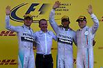 Nico Rosberg (GER), Mercedes GP - Lewis Hamilton (GBR), Mercedes GP - Valtteri Bottas (FIN), Williams F1 Team<br /> for the complete Middle East, Austria & Germany Media usage only!<br />  Foto © nph / Mathis