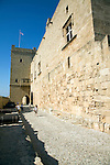 Outer wall ramparts, Palace of the Grand Masters, Rhodes, town, Rhodes, Greece