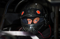 Aug 31, 2014; Clermont, IN, USA; NHRA funny car driver Blake Alexander during qualifying for the US Nationals at Lucas Oil Raceway. Mandatory Credit: Mark J. Rebilas-USA TODAY Sports