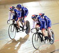 Picture by Simon Wilkinson/SWpix.com - 05/03/2017 - Cycling 2017 UCI Para-Cycling Track World Championships, Velosports Centre, Los Angeles USA - Alison Patrick (piloted by Helen Scott). and Sophie Thornhill and Corrine Hall
