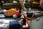 l'association l'arche acceuille des personnes handicapées mentales. Atelier Relaxtion