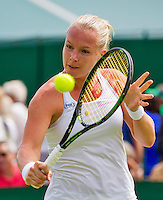 London, England, 30 june, 2016, Tennis, Wimbledon, Kiki Bertens (NED) in her match against Mona Barthel (GER)<br /> Photo: Henk Koster/tennisimages.com