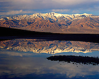 Reflection of the Panamint Range at Badwater; Death Valley National Park ,CA