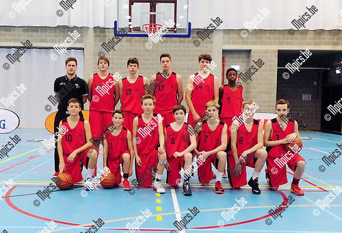 2015-01-25 / Basketbal / seizoen 2014-2015 / svbo / Vlaamse basketbaltalenten U14 spelen in Heist-op-den-Berg tegen mekaar / Team red jongens<br /><br />Foto: Mpics.be
