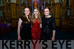 Hannah Sherry, Megan O'Neill and Doireann O'Carroll who were performing at the piano recital with Young Choon Park in the Franciscan Friary.