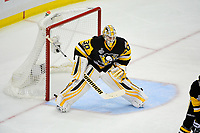 May 31, 2017: Pittsburgh Penguins goalie Matt Murray (30) waits on the puck drop during game two of the National Hockey League Stanley Cup Finals between the Nashville Predators  and the Pittsburgh Penguins, held at PPG Paints Arena, in Pittsburgh, PA. The Penguins defeat the Predators 4-1 and lead the series 2-0. Eric Canha/CSM