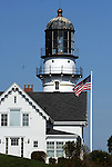 Cape Elizabeth light Maine,  Cape Elizabeth light East light at Two lights Cape Elizabeth Maine, Maine, Cape Elizabeth light established 1828 construction Cast iron 67 feet Cape Elizabeth Maine, New England region of northeatern United States, boardered by Atlantic Ocean to the east and south, Maine is the northermost and easternmorst portion of New England, jagged rocky coastline, rolling mountains, heavily forested interior picturesque waterways, seafood cuisine, lobster and clams, European settlement in Maine was 1604, 23rd state March 15 1820, Dirigo, Maine is The Pine Tree State, Maine Stock and Fine Art Photography.  All Rights Reserved RonBennettPhotography.com All Photographs for SALE.