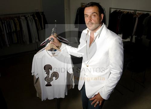 Nuno Gama, estilista..Porto, 18 de Julho de 2008.