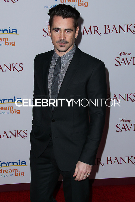 "BURBANK, CA - DECEMBER 09: Actor Colin Farrell arrives at the U.S. Premiere Of Disney's ""Saving Mr. Banks"" held at Walt Disney Studios on December 9, 2013 in Burbank, California. (Photo by Xavier Collin/Celebrity Monitor)"