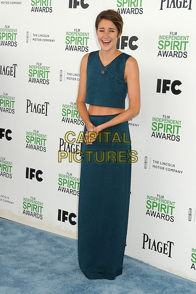 1 March 2014 - Santa Monica, California - Shailene Woodley. 2014 Film Independent Spirit Awards - Arrivals held at Santa Monica Beach. <br /> CAP/ADM/BP<br /> &copy;Byron Purvis/AdMedia/Capital Pictures