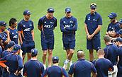 23rd March 2018, Eden Park, Auckland, New Zealand; International Test Cricket, New Zealand versus England, day 2;  NZ team huddle ahead of play