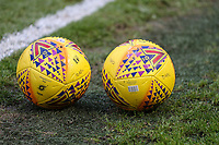 Oldham Athletic training ball seen ahead of the players warm up the Sky Bet League 1 match between Oldham Athletic and Bristol Rovers at Boundary Park, Oldham, England on 30 December 2017. Photo by Juel Miah / PRiME Media Images.