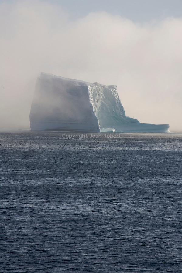 iceberg dans la brume