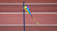 Nordic wind indicator beside the Women's Pole Vault during the Muller Grand Prix Birmingham Athletics at Alexandra Stadium, Birmingham, England on 20 August 2017. Photo by Andy Rowland.