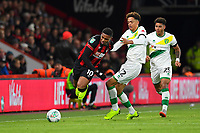 Jamal Lewis of Norwich City right takes out Jordon Ibe of AFC Bournemouth during AFC Bournemouth vs Norwich City, Caraboa Cup Football at the Vitality Stadium on 30th October 2018