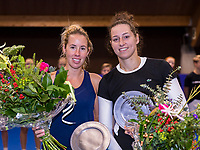Alphen aan den Rijn, Netherlands, December 16, 2018, Tennispark Nieuwe Sloot, Ned. Loterij NK Tennis, Runners up womans doubles Chayenne Ewijk (L) (NED) and Rosalie vd Hoek (NED)<br /> Photo: Tennisimages/Henk Koster