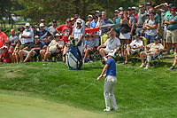 Rory McIlroy (NIR) chips up tight on 3 during 4th round of the World Golf Championships - Bridgestone Invitational, at the Firestone Country Club, Akron, Ohio. 8/5/2018.<br /> Picture: Golffile | Ken Murray<br /> <br /> <br /> All photo usage must carry mandatory copyright credit (© Golffile | Ken Murray)