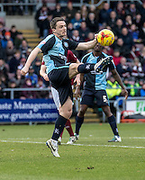 Stephen McGinn of Wycombe Wanderers during the Sky Bet League 2 match between Northampton Town and Wycombe Wanderers at Sixfields Stadium, Northampton, England on the 20th February 2016. Photo by Liam McAvoy.