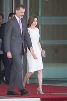 King of Spain Felipe VI and Queen of Spain Letizia Ortiz flight to London in an official visit.