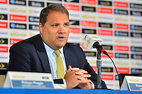 Santa Clara, CA - Tuesday, March 07, 2017: CONCACAF President, Victor Montagliani during the unveiling of the CONCACAF 2017 Gold Cup Groups & Schedule at Levi's Stadium.