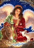 Dona Gelsinger, CHRISTMAS CHILDREN, angels, paintings(USGE0907,#XK#) Engel, angeles