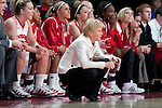 Wisconsin Badgers head ocach Lisa Stone looks on during an NCAA college women's basketball game against the Duke Blue Devils during the ACC/Big Ten Challenge at the Kohl Center in Madison, Wisconsin on December 2, 2010. Duke won 59-51. (Photo by David Stluka)