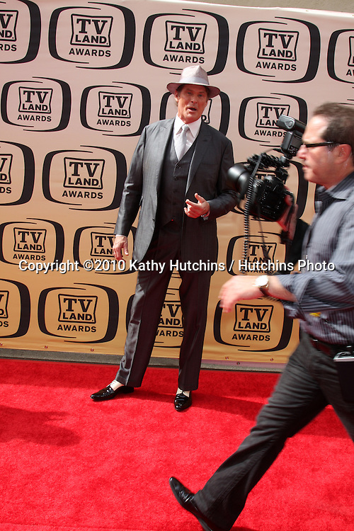 David Hasselhoff.arrives at the 2010 TV Land Awards.Sony Studios.Culver City, CA.April 17, 2010.©2010 Kathy Hutchins / Hutchins Photo...