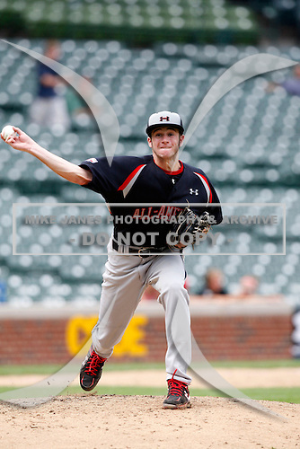 August 8, 2009:  Pitcher Bobby Wahl (19) of the Baseball Factory team during the Under Armour All-America event at Wrigley Field in Chicago, Illinois.  (Copyright Mike Janes Photography)