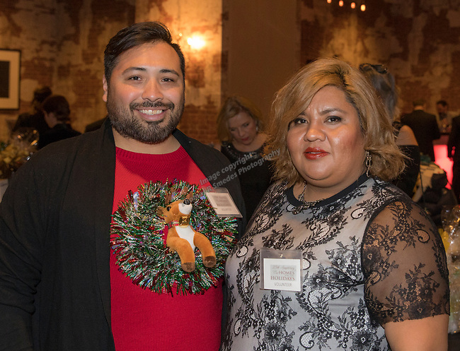 Saul and Yolanda during the Step 2 Jingle & Mingle held at the Whitney Peak Hotel on Friday night, December 1, 2017.
